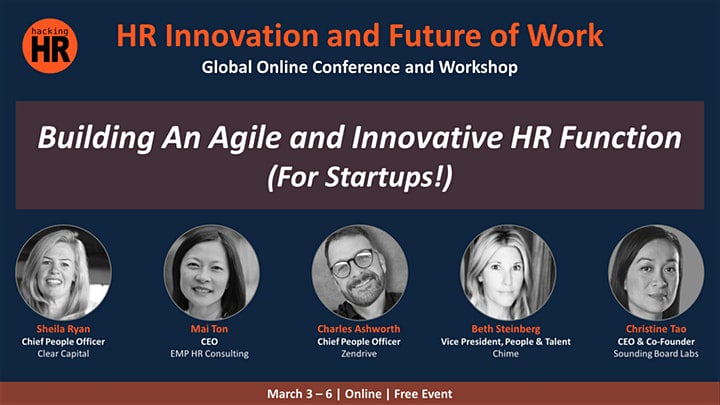 """Christine Tao talks about """"Building an Agile & Innovative HR Function for startups"""" with Hacking HR Global Online Conference and Workshop 1"""